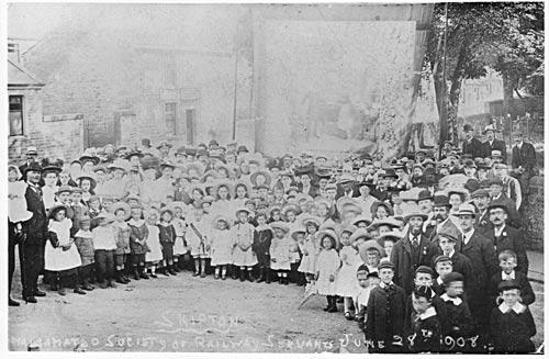 Trade union rally, 1908