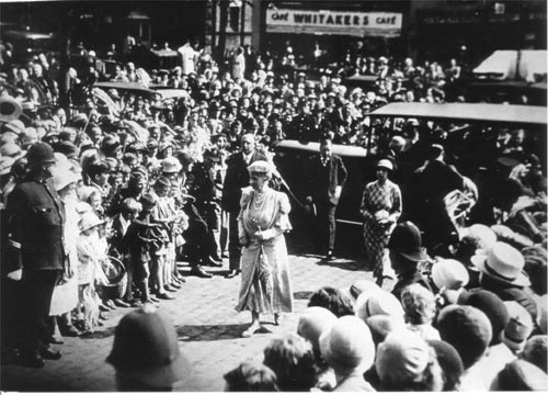 Visit of Queen Mary