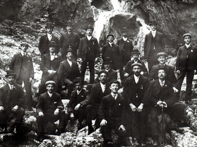 Group of men, Gordale Scar
