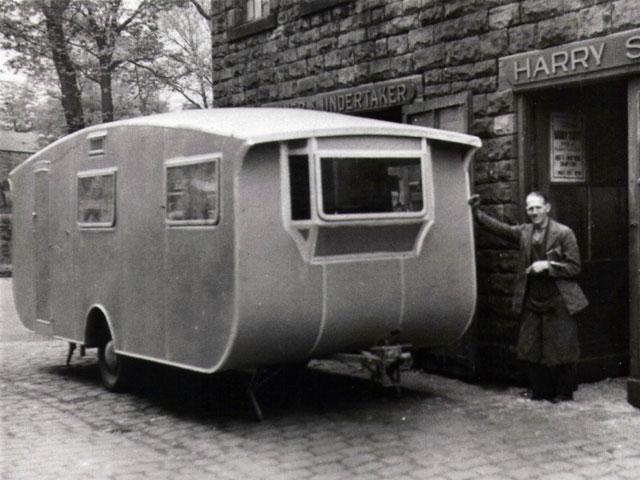 Man with caravan