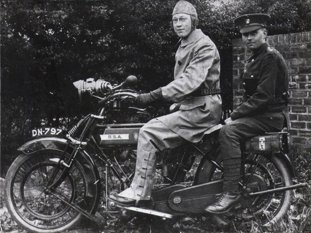 Mr Hird on a BSA, 1915