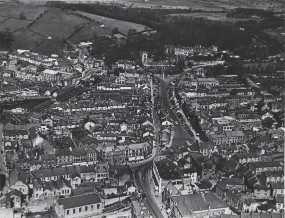 Aerial view of Skipton