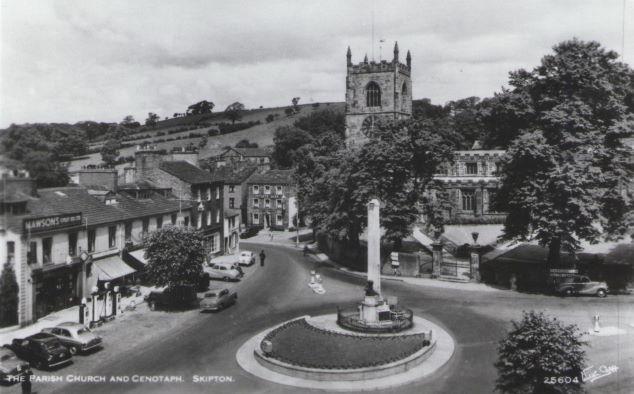 Skipton Parish Church and Cenotaph